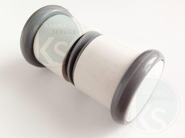 белая пластиковая ручка для двери душ кабины